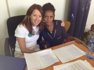 Judy (left) and Tsehay (right), one of CCC's fabulous cryotherapy nurses at Ayder Hospital in Northern Ethiopia.