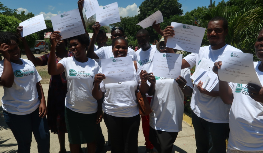 Day Three in Cap Haitien and Nine New Community Health Volunteers Trained