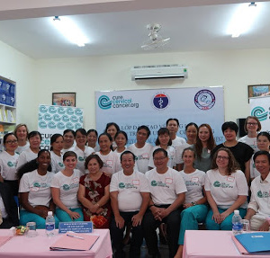 "CureCervicalCancer Begins Weeklong ""See & Treat"" Training in Hue, Vietnam"